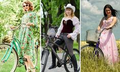 Леди на велосипеде: выбирай самую креативную девушку!