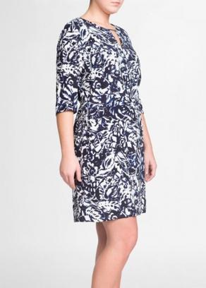 модные платья с цветами 2014