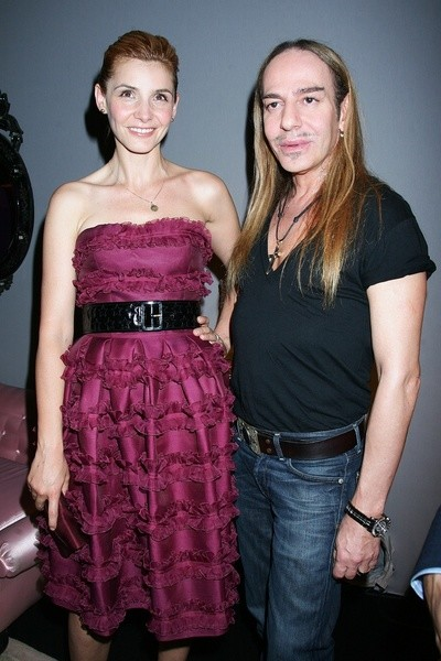 Клотид Куро (Clotilde Courau) и Джон Галльяно (John Galliano) на показе Christian Dior