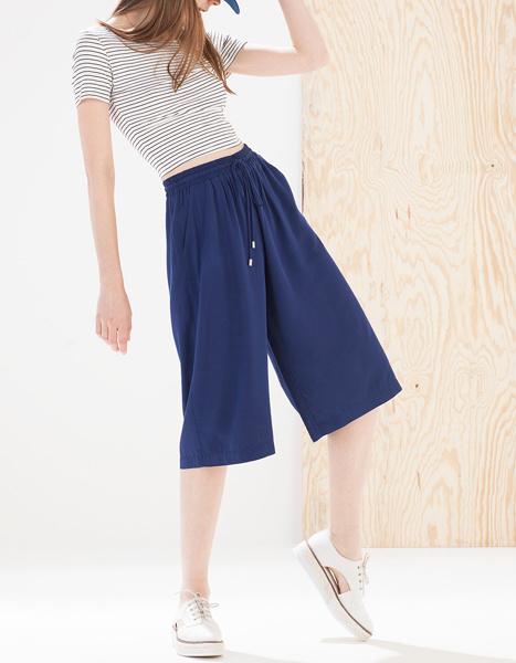 Женские брюки кюлоты фото