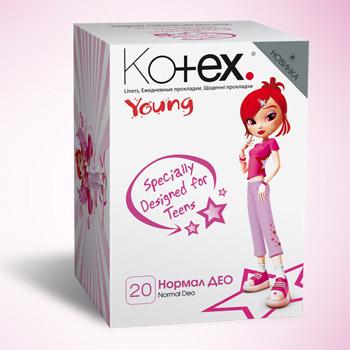 Ежедневные прокладки Kotex® Young разработаны специально для девочек-подростков.