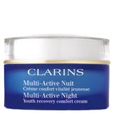 Ночной крем Multi-Active Nuit от Clarins позволит забыть о ранних морщинах и следах усталости, даже если вы мало спите.