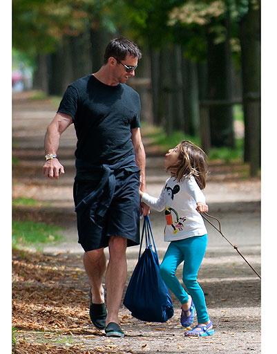 Хью Джекман (Hugh Jackman) с дочкой Авой Элиот