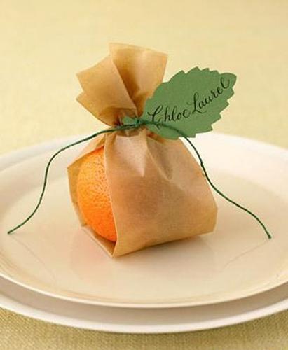 Украшение из мандарина