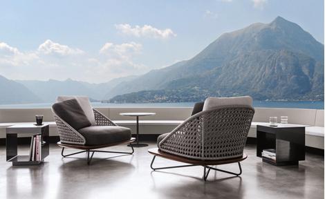 Outdoor коллекция мебели Rivera от фабрики Minotti   галерея [1] фото [3]