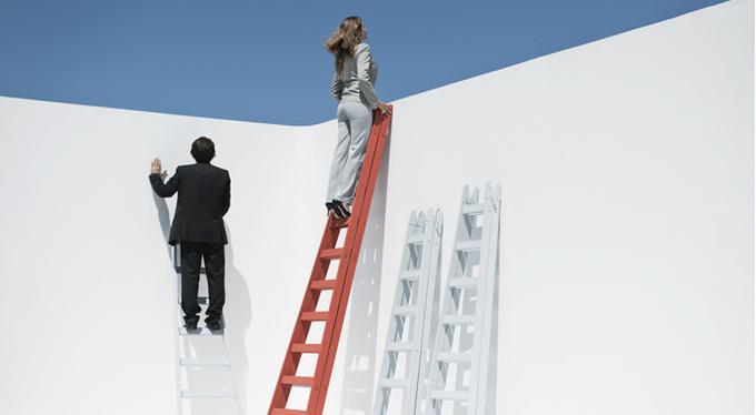 """Broken stairs"": career problems in women"
