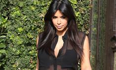 Беременная Ким Кардашьян шокировала прозрачным нарядом