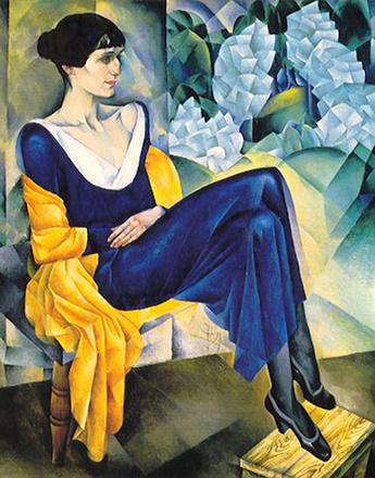 Н. Альтман. Портрет А. А. Ахматовой, 1914 год