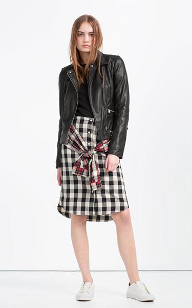 Юбка, куртка, кроссовки Zara, фото