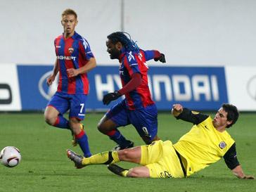 Футболисты ЦСКА одержали победу в домашнем матче Лиги Европы