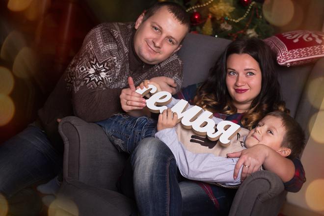 Новогодняя фотосессия в студии Ростов-на-Рону