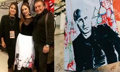 Юля Михалкова вышла на сцену в платье с Путиным!