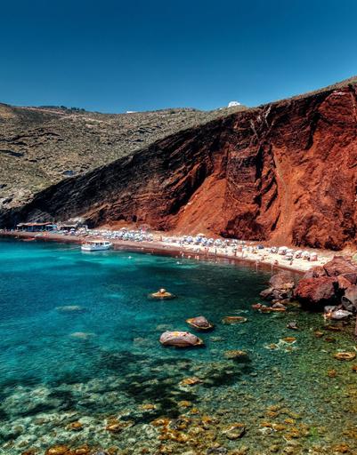 Red Beach, Santorini - Красный пляж, остров Санторини