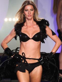 Жизель Бундхен (Gisele Bündchen) - идеальная модель для рекламы нижнего белья