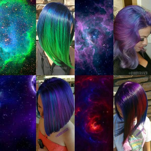 новый тренд окрашивания galaxyhair
