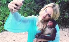 Янина Студилина на съемках «Острова» подружилась с обезьяной