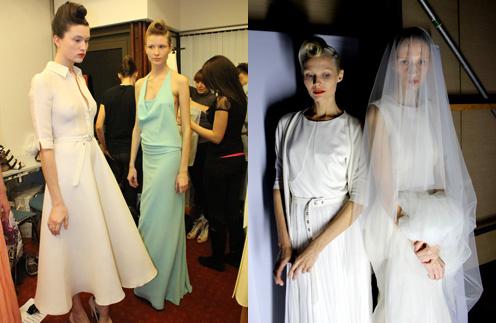 Mercedes-Benz Fashion Week: бэкстейдж показа Tegin, весна-лето 2012