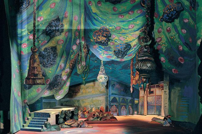 Дж.Рейнхард. Макет декорации к балету «Шехерезада» по эскизу Льва Бакста.