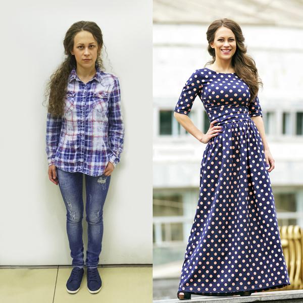 До и после: Анастасия Сидунова