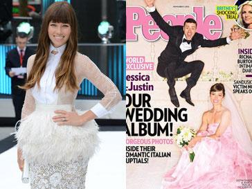 Джессика Бил (Jessica Biel) вышла замуж в платье от любимого дизайнера - Giambattista Valli