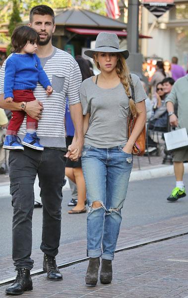 Жерар Пике, Шакира и их сын Милан, 2014 год