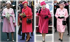 Все оттенки Елизаветы II: 90 розовых нарядов королевы