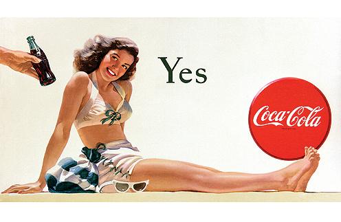 Рекламный плакат кока-колы