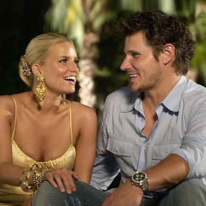 Джессика симпсон и Ник Лише (кадр из реалити-шоу «Молодожены»)