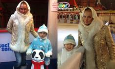 Анастасия Волочкова примерила безвкусный наряд Снегурочки