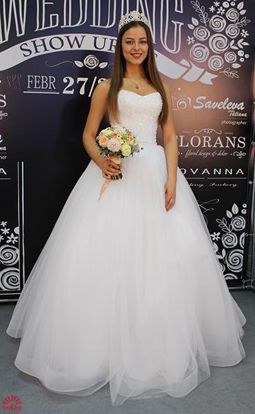 Владислава Тарасова, «Мисс Екатеринбург – 2015» в свадебном платье, фото