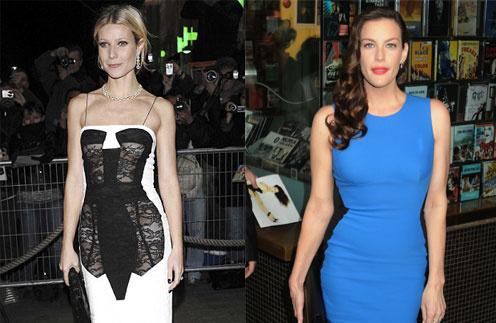 """Гвинет Пэлтроу (Gwyneth Paltrow) и Лив Тайлер (Liv Tyler) с помощью """"волшебного"""" платья добавиются разных результатов"""