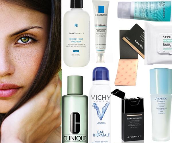 Средства, которые помогут справиться с блеском на лице.