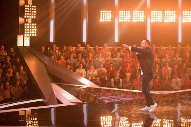 Петр Радченко на съемках выпуска конкурса «Новая звезда» в первом туре