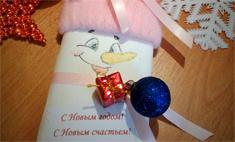 Сувенир: снеговик с сюрпризом своими руками