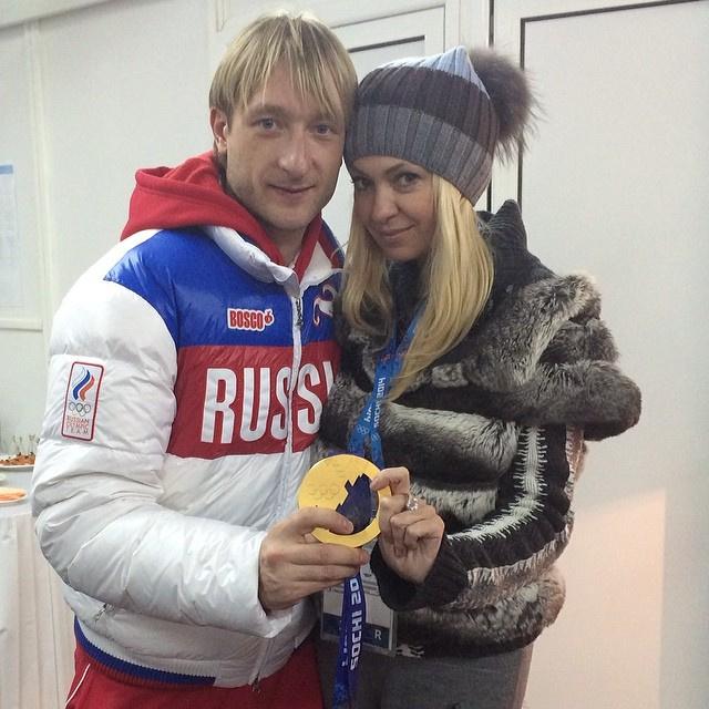 Яна Рудковская, Евгений Плющенко