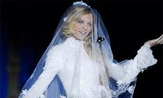 Лена Кулецкая примерила свадебное платье