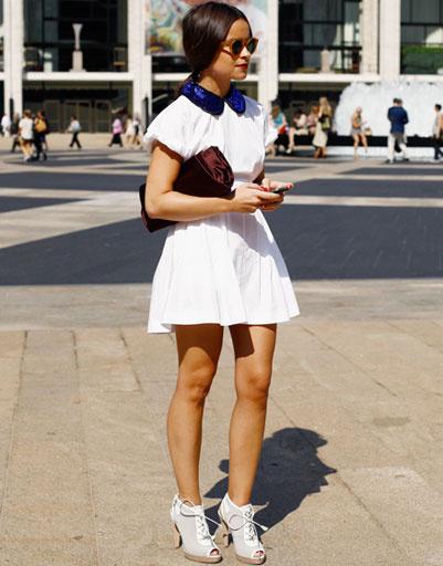 Мирослава Дума на Неделе моды в Нью-Йорке