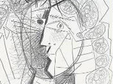 Стоимость рисунка «Голова женщины» Пикассо оценивается в $275 тыс.