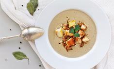 Суп-пюре из белых грибов с домашней курочкой
