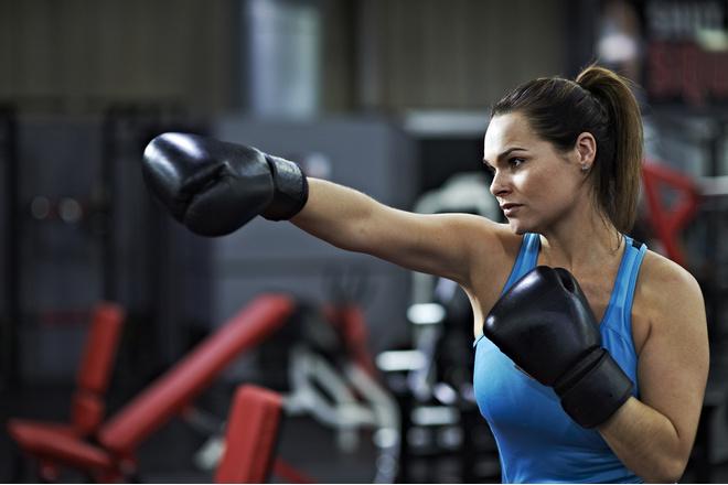 женщина и бокс