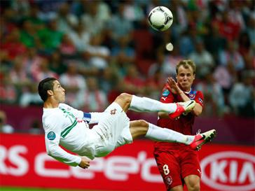 Гол Криштиану Роналду в матче с Чехией.