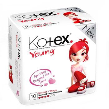 Прокладки Kotex® Youngразработаны специально для девочек-подростков.