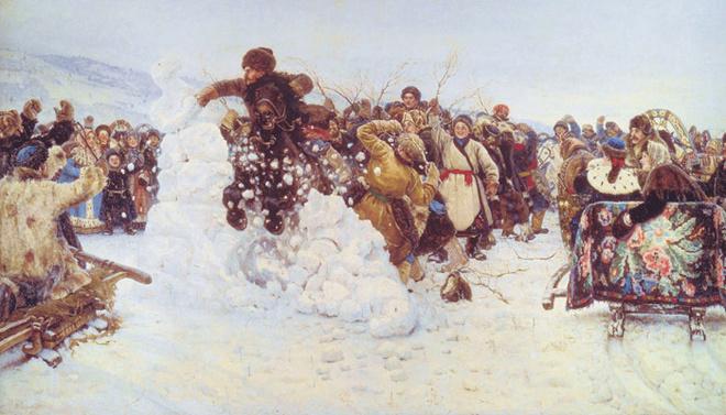 Василий Суриков «Взятие снежного городка», 1891.