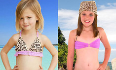 Детские купальники от Элизабет Херли вызвали скандал