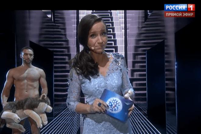 Вместо Александра Иванова голым насцену «Евровидения» вышел ведущий шоу