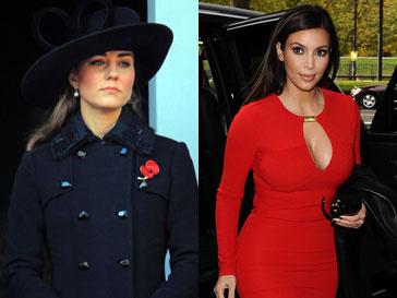 У Ким Кардашьян (Kim Karfashian) и Кейт Миддлтон (Kate Middleton) мало общего