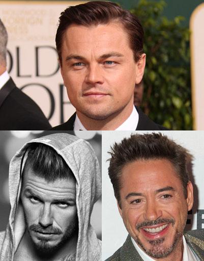 Леонардо ДиКаприо (Leonardo DiCaprio), Дэвид Бекхэм (David Beckham), Роберт Дауни младший (Robert Downey Jr.)