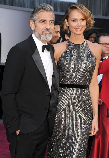 Джордж Клуни и Стейси Киблер, февраль 2013 года