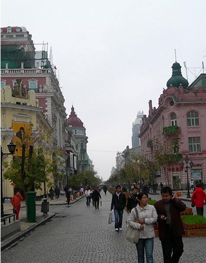 городской пейзаж Харбина