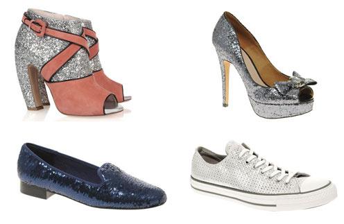 Сверху вниз по часовой стрелке: туфли Miu Miu, туфли Miss KG, Converse All Star, балетки Asos